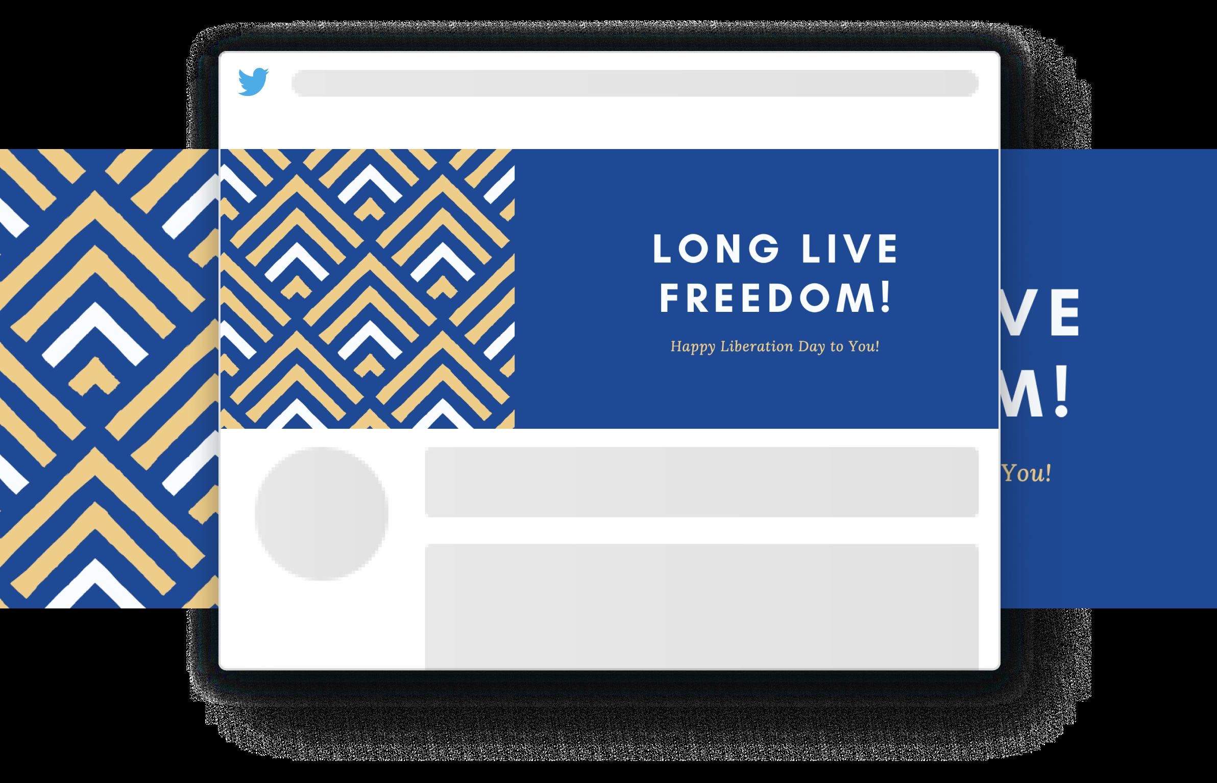 Twitter header designed in Canva