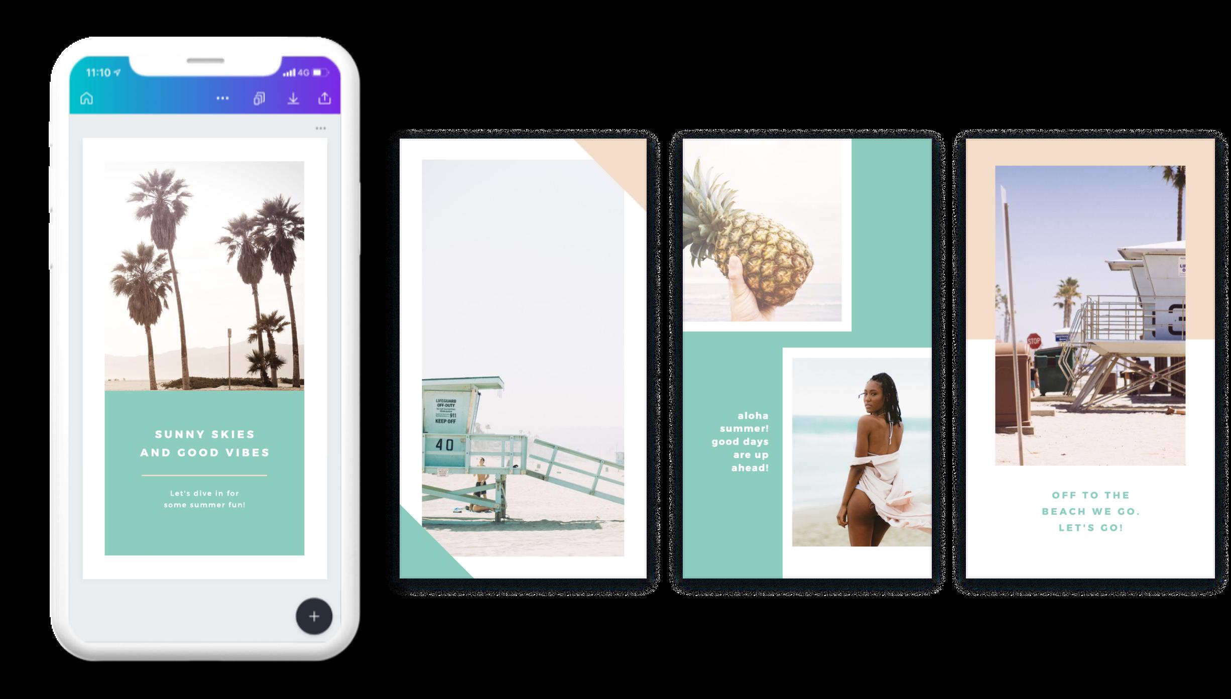 Instagram story set designed in Canva