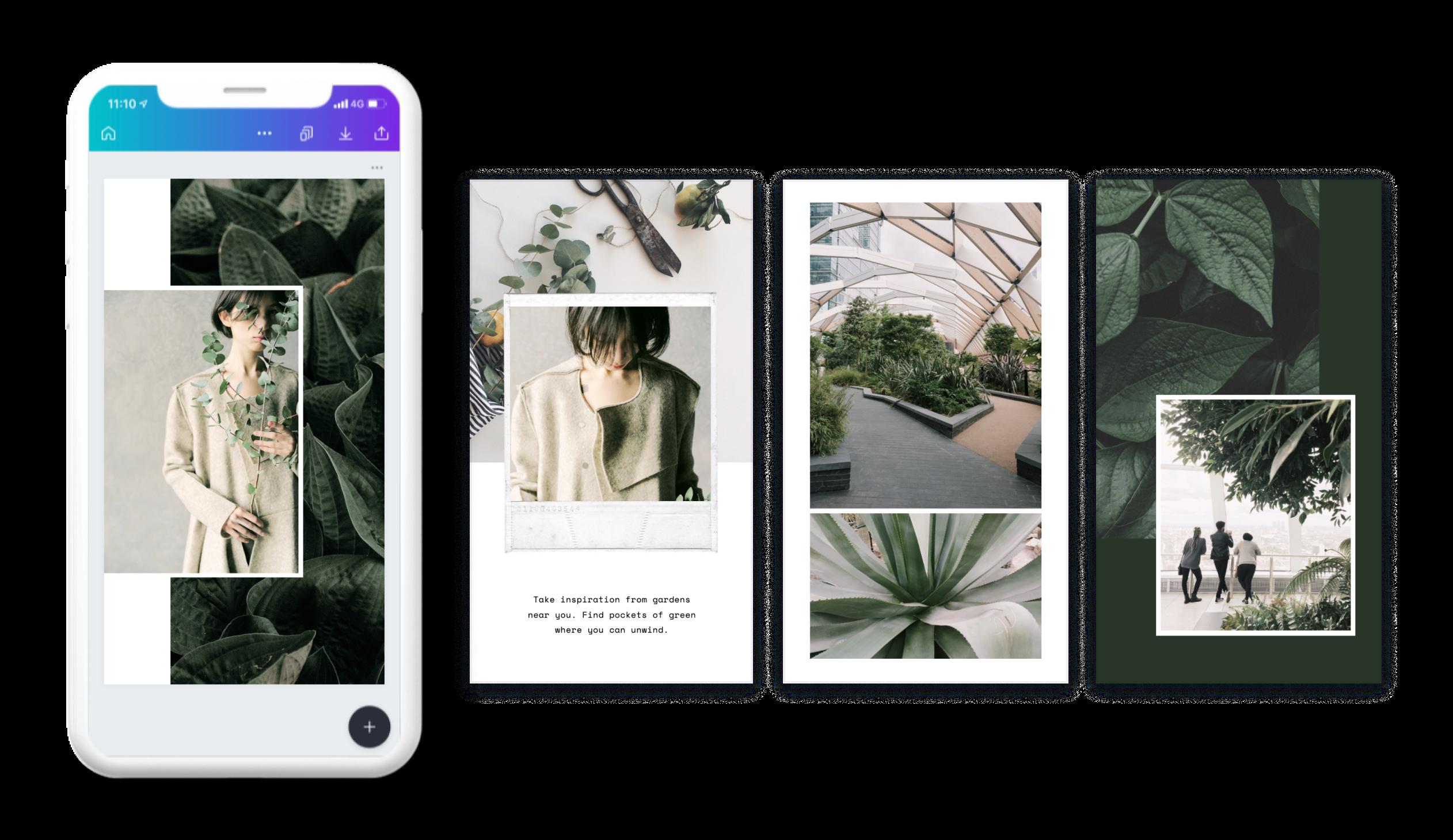 Facebook story set designed in Canva