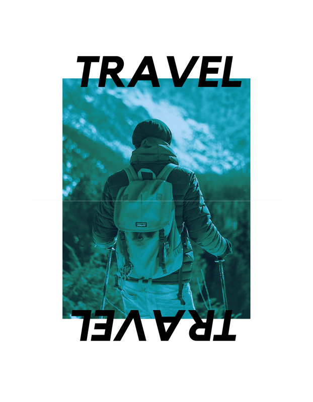 Photo Travel Typography T-Shirt