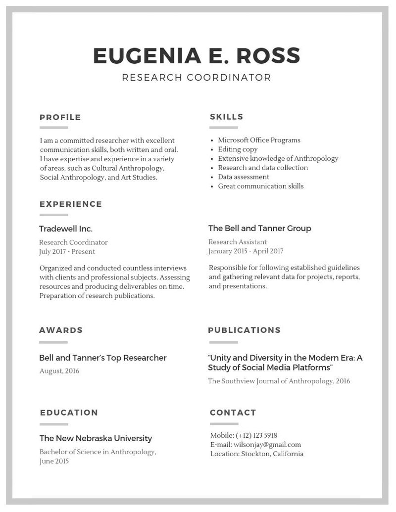 10 Resume Templates To Help You Get Your Next Job