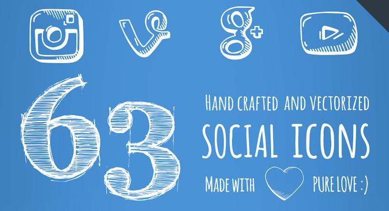 63 social icons