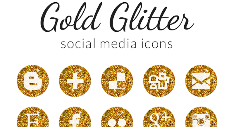 Free Gold Social Media Icons