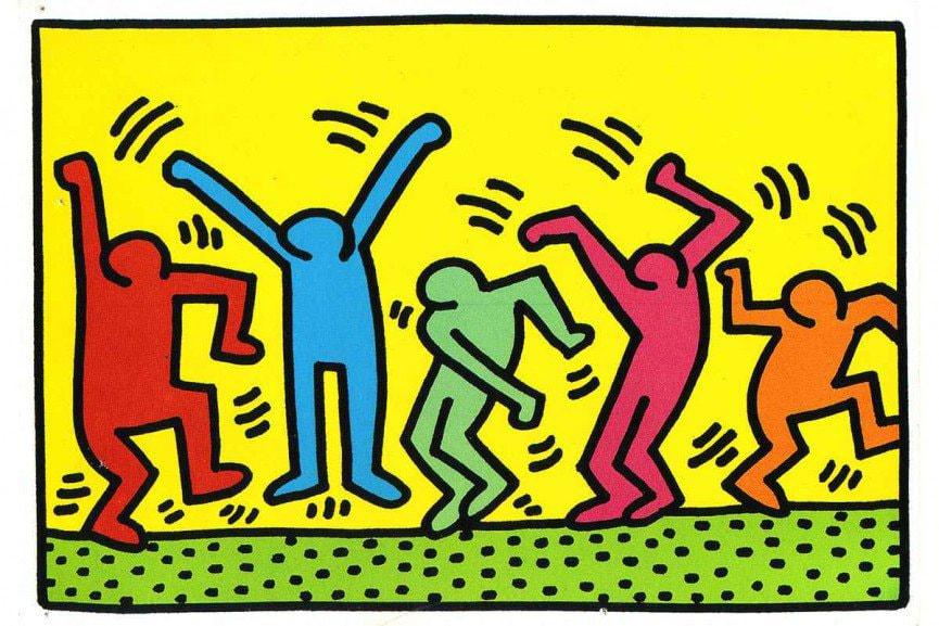 Keith Haring pop art figures