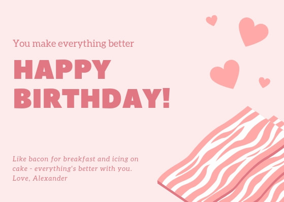 Happy Birthday Card Girl Young Open Pink Dress Sentiment Verse Envelope Included