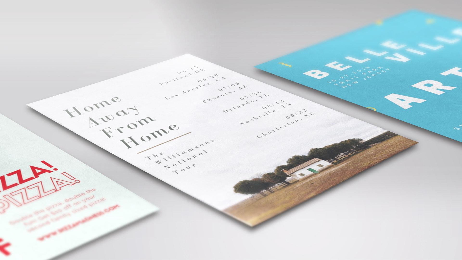 minimalist flyers
