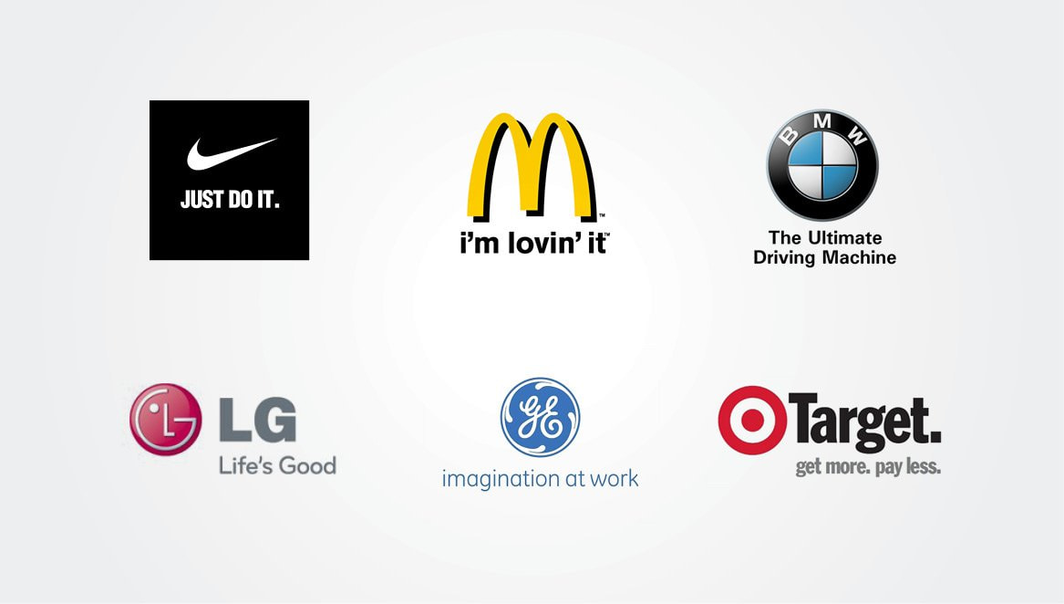 A good tagline is simple, short and memorable. Get creative and let your tagline speak for your brand.