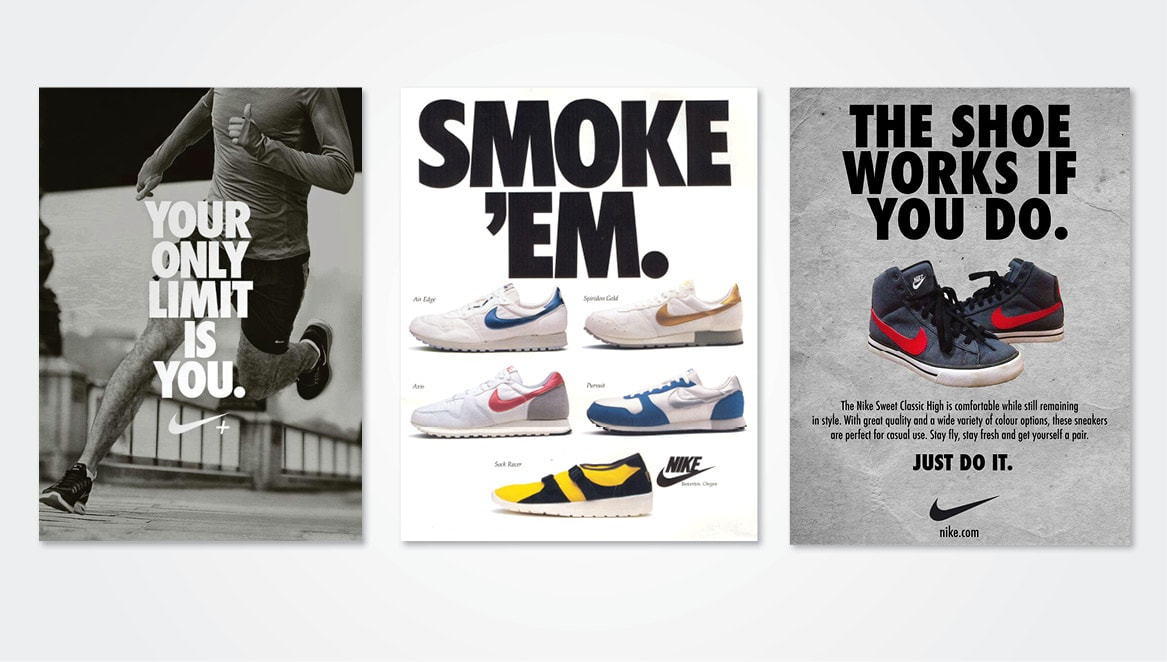 Nike's strong brand is built on a tower of consistency and cohesivity across all channels.