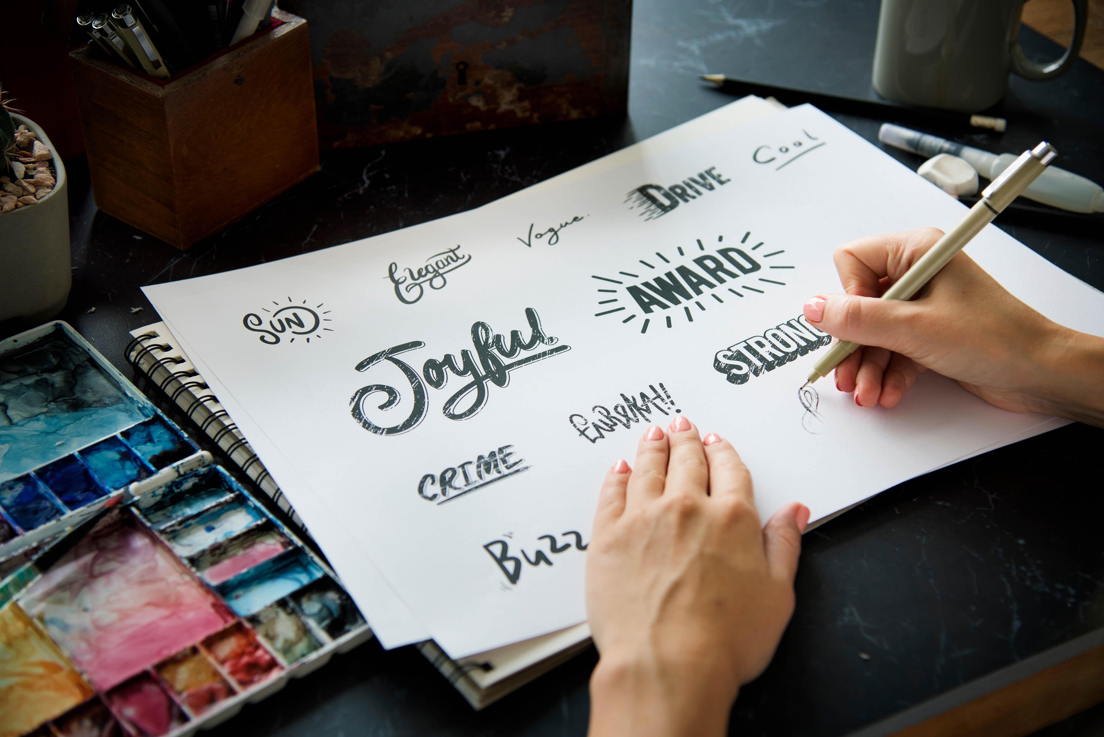 Font Illustration Design Art Words