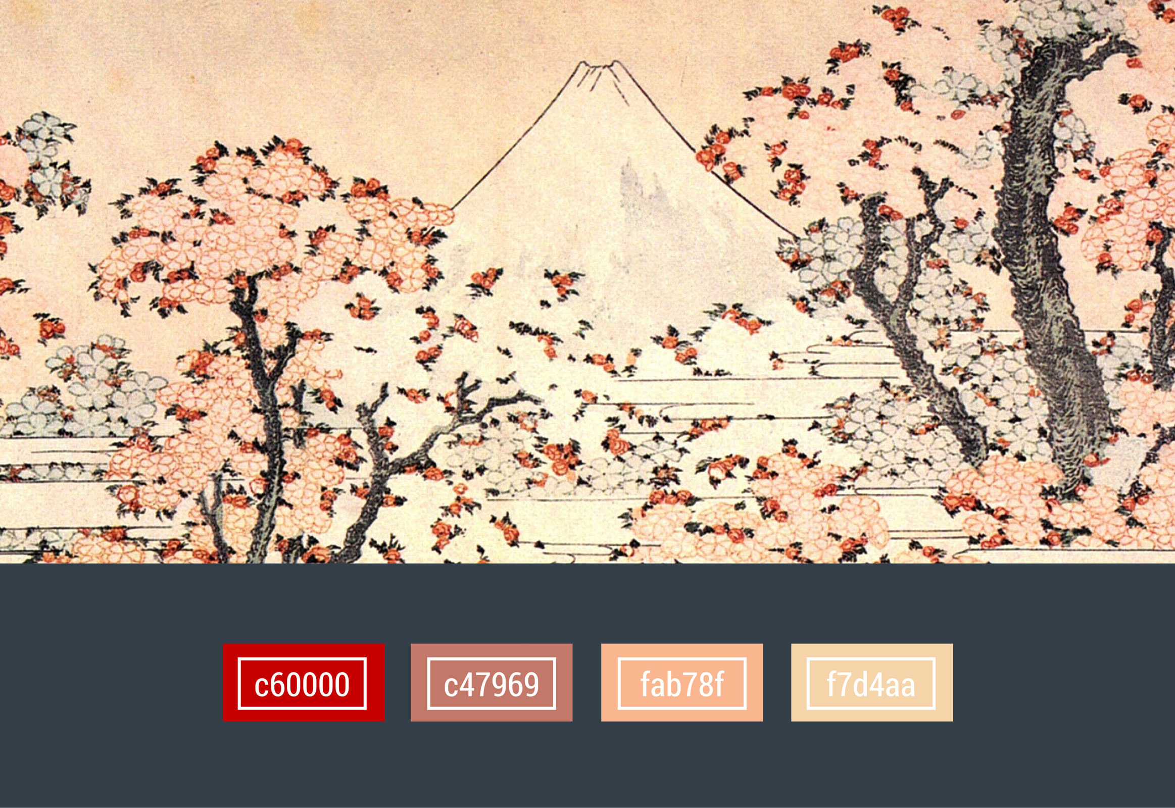 colors used in The Edo Period