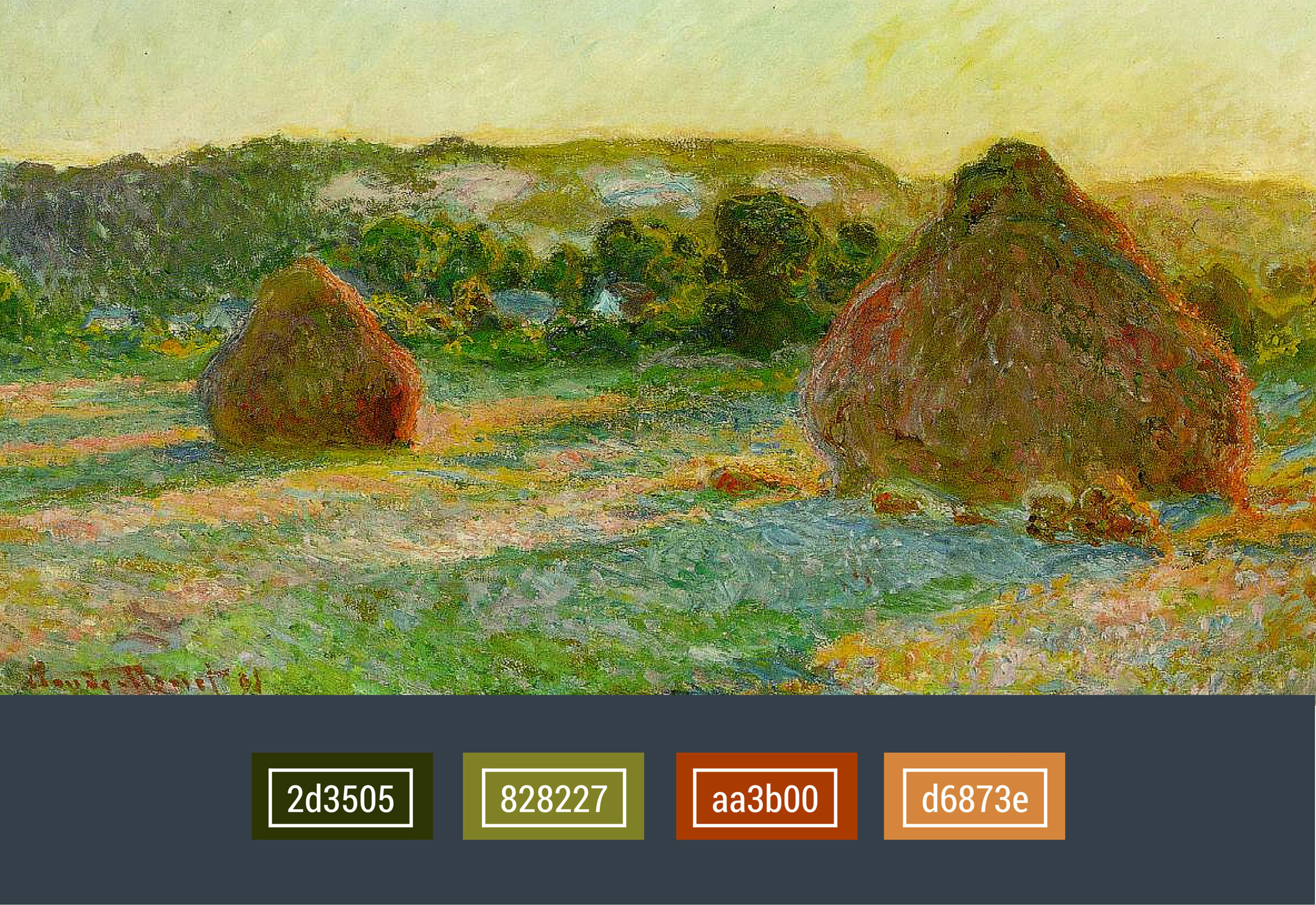 popular colors used in the Impressionism movement