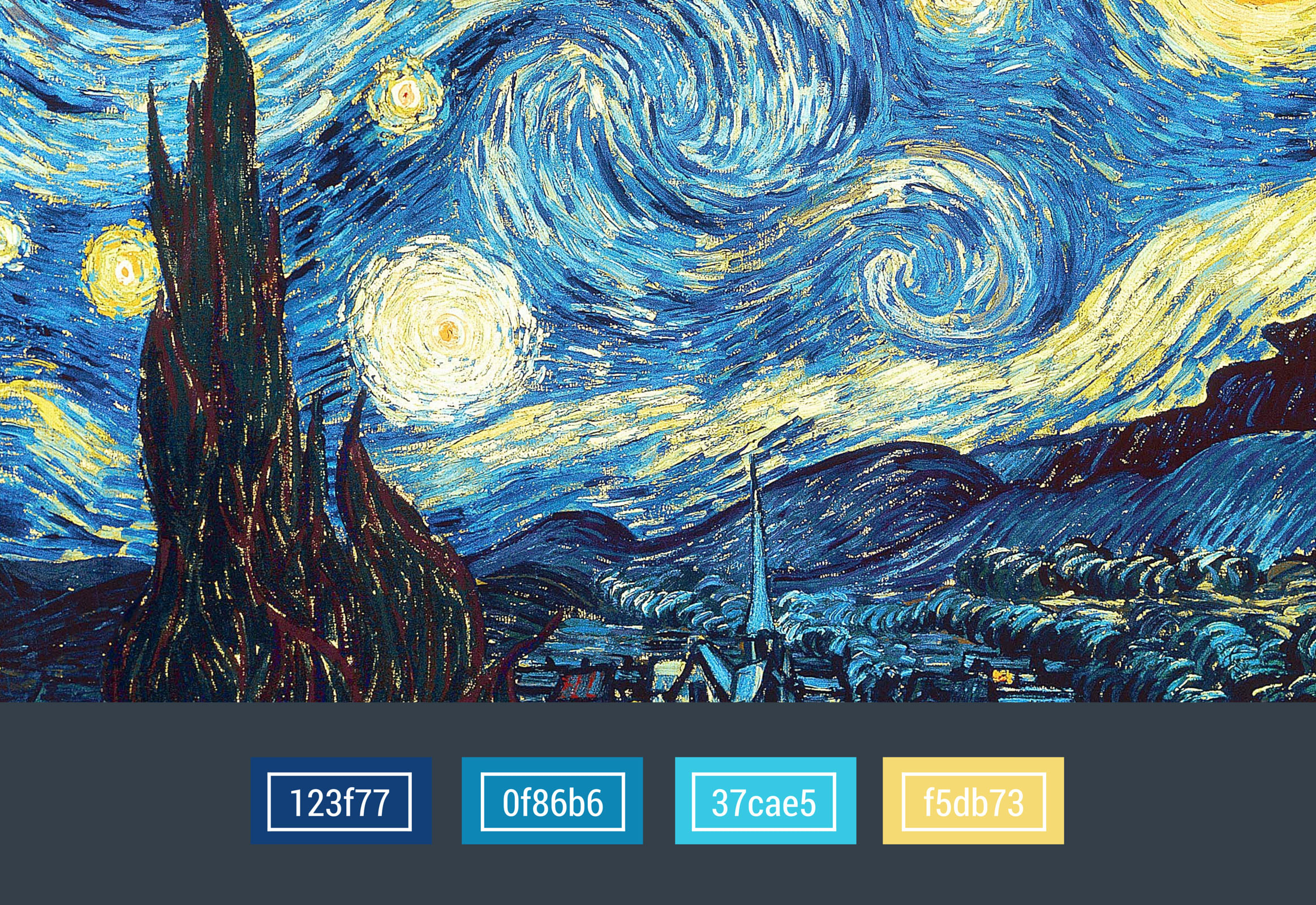 colors used in the Post Impressionism era