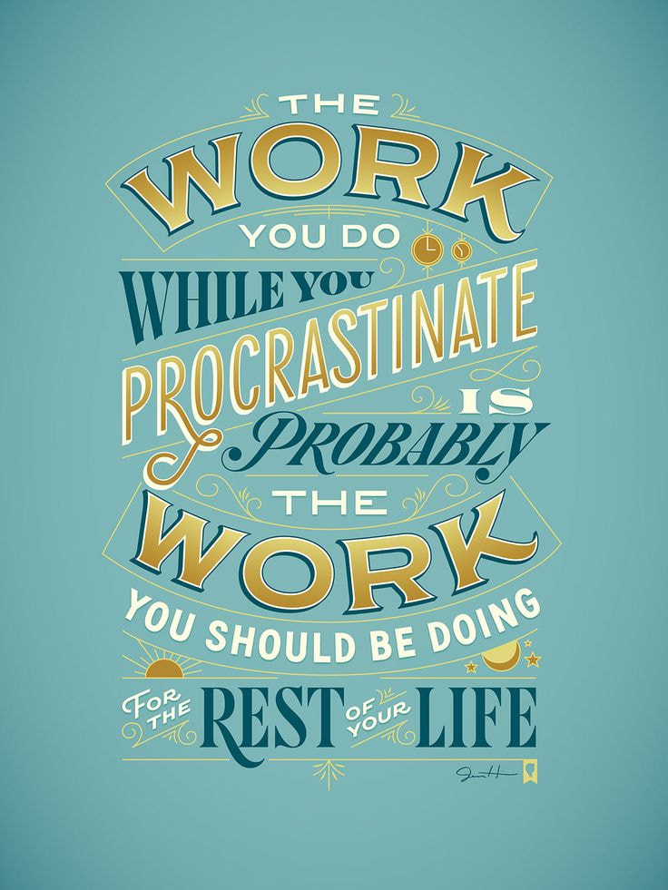 """""""Procrastiworking"""" by Jessica Hische"""