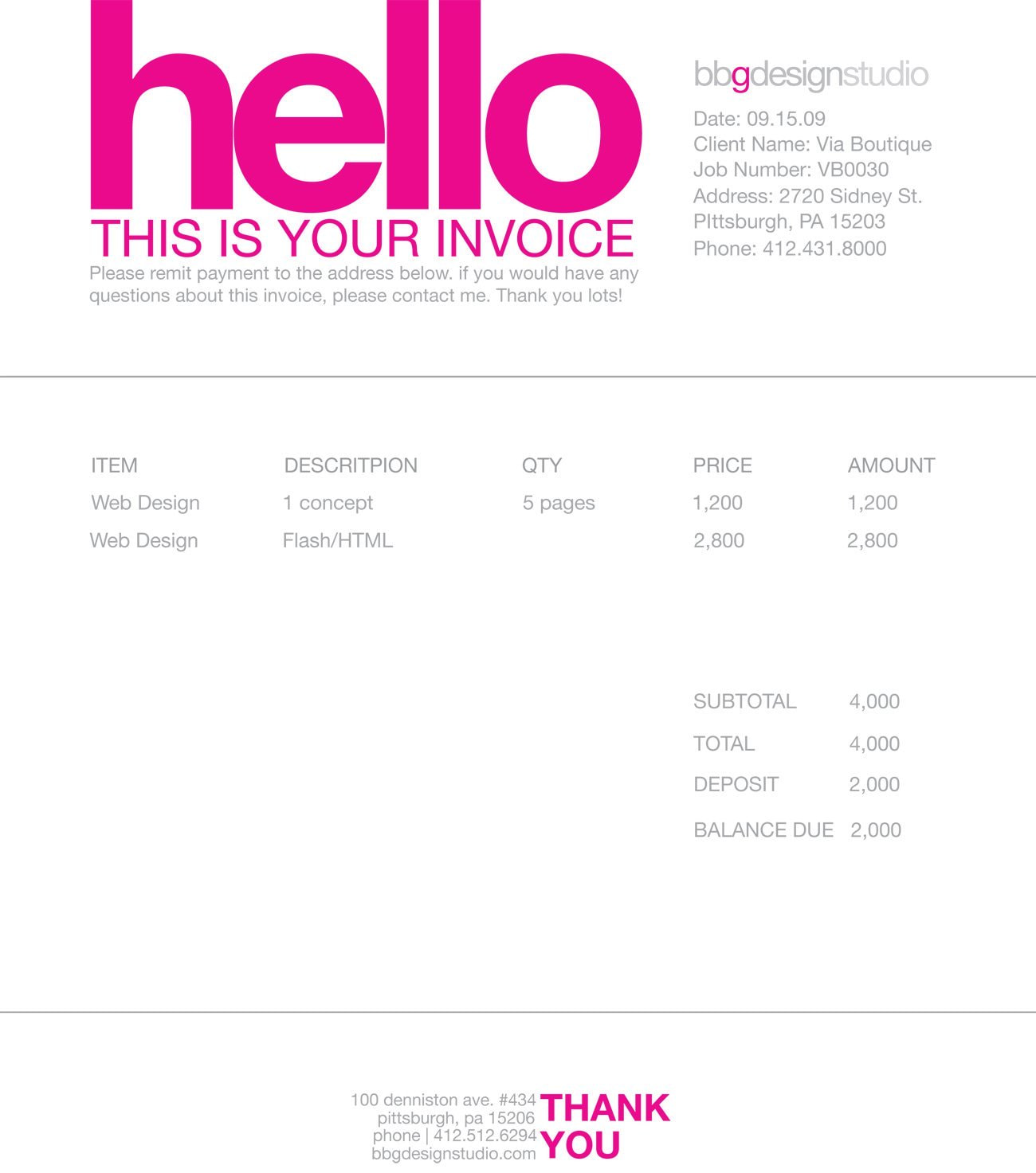 Invoice Design 50 Examples To Inspire You
