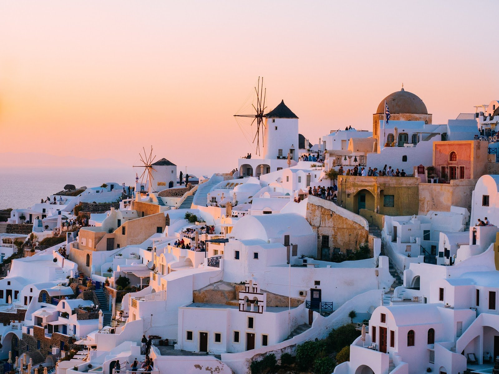 Golden hour photography over Santorini by Tom Grimbert