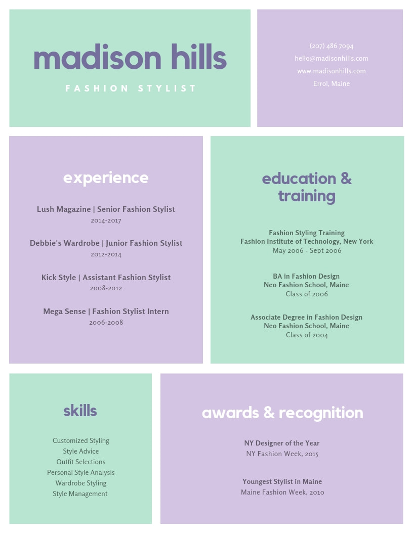 Colorful Resume from static-cse.canva.com