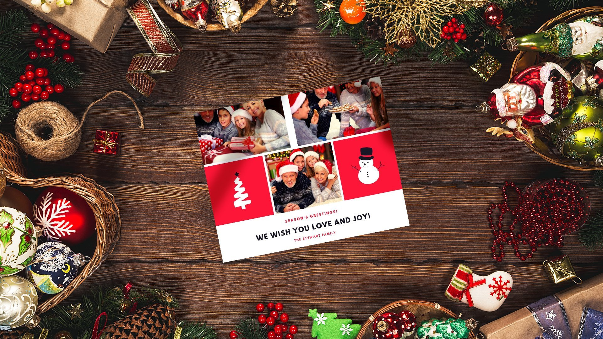 Create your Christmas cards on Canva