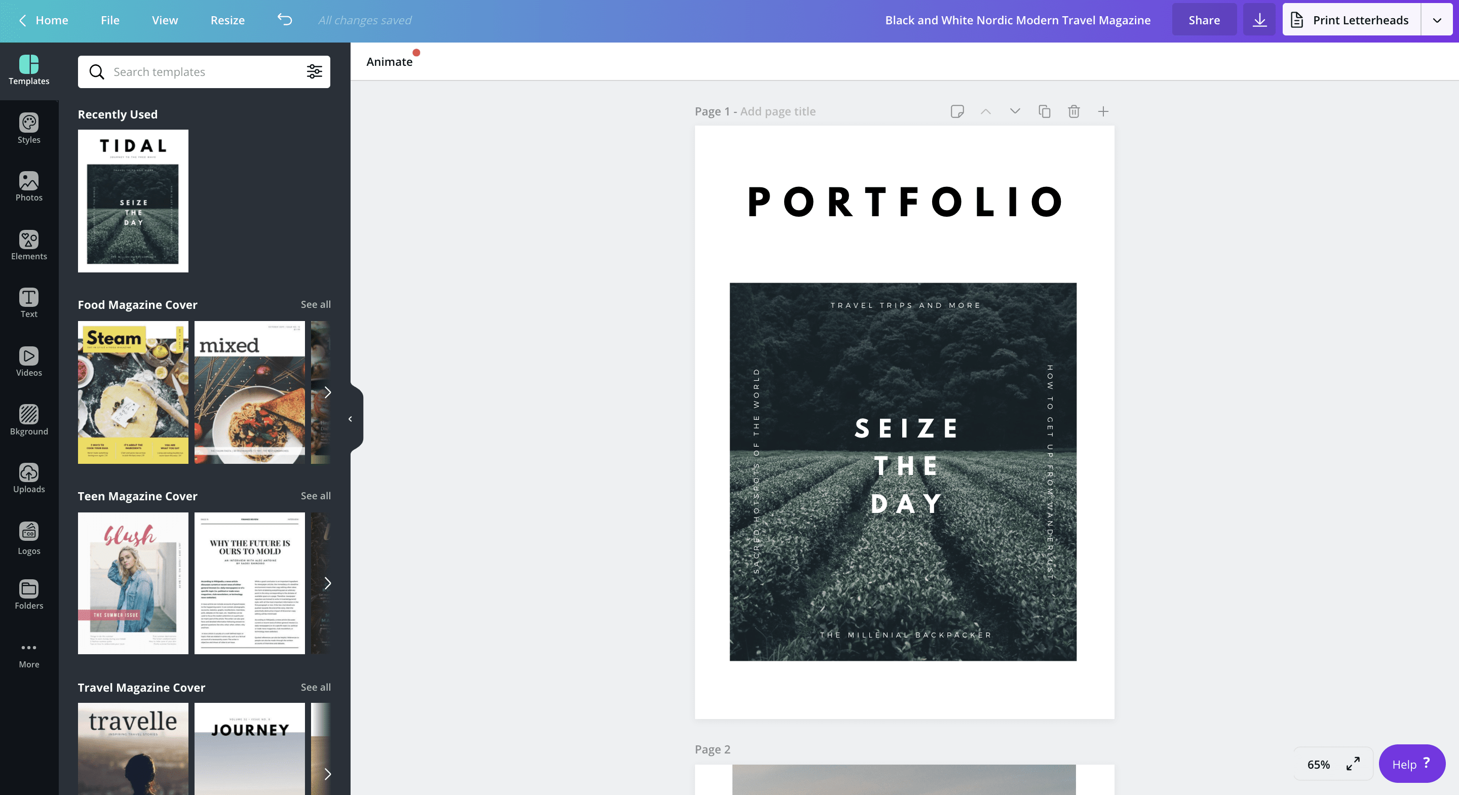 How To Make A Portfolio Canva Learn