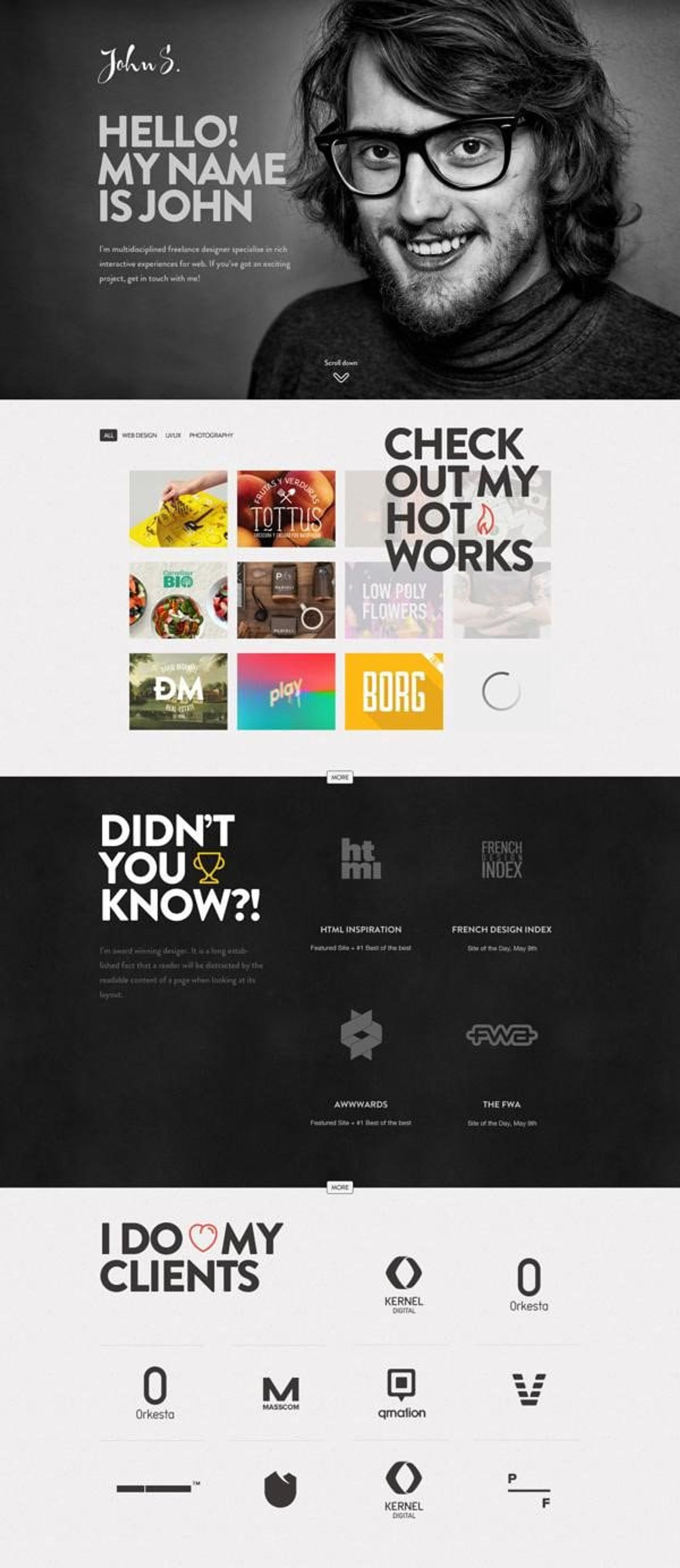 Voorbeeld portfolio cv gemaakt met Canva.com