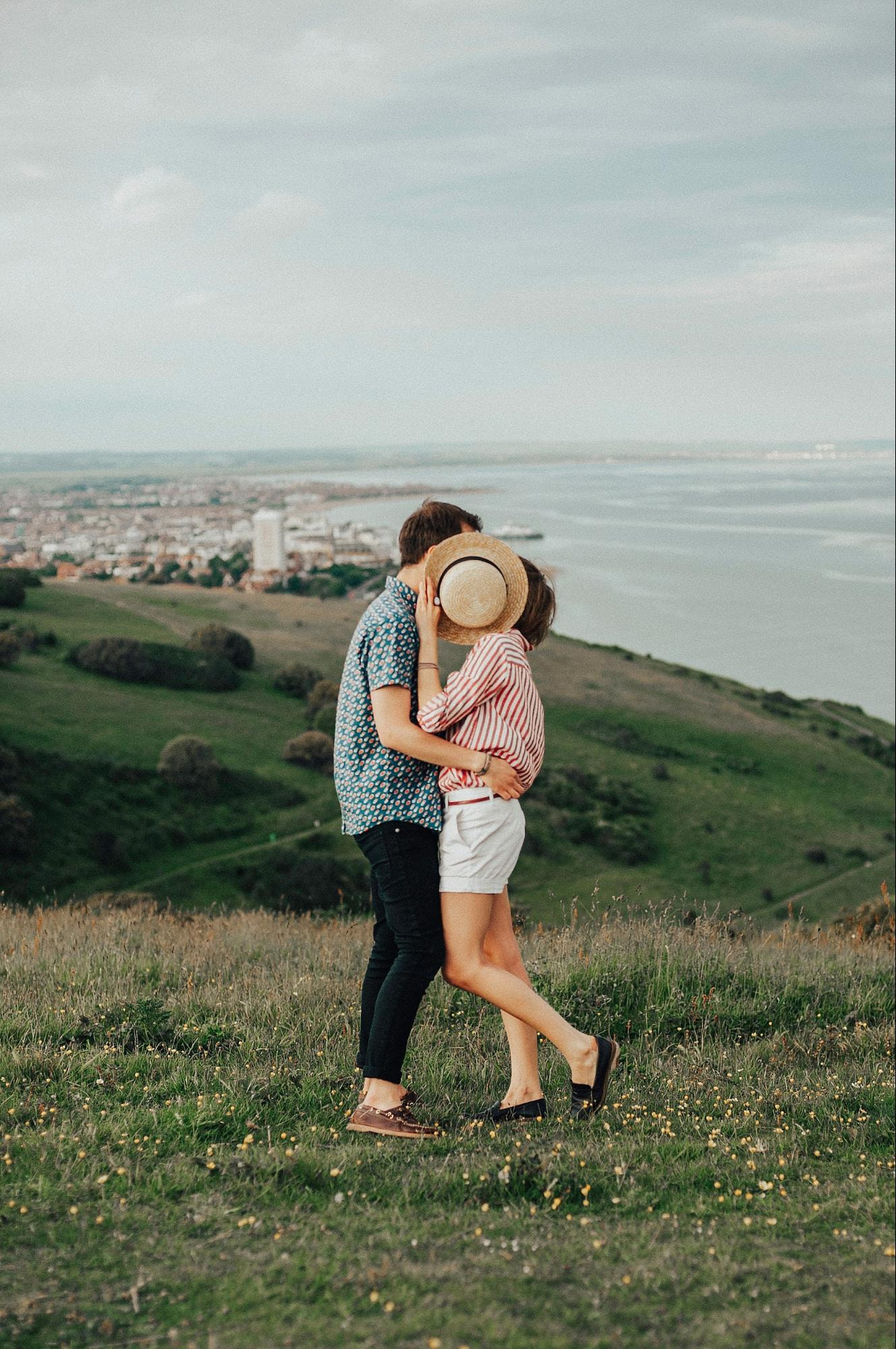 posiciones románticas para fotos de enamorados
