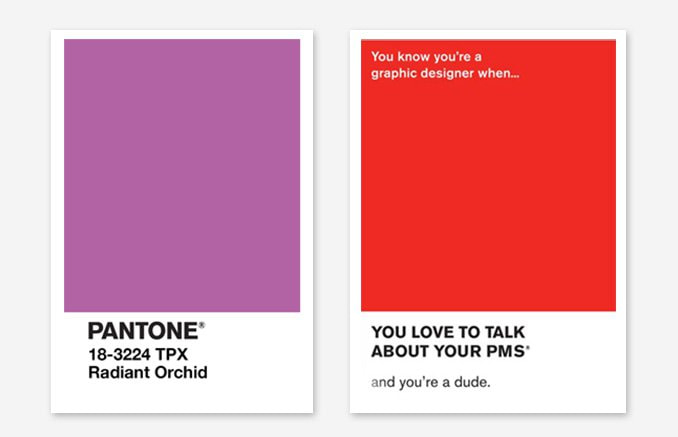 Design has made Pantone a recognisable and memorable brand, so much so that by using the visual cues alone, the brand is still identifiable. Images by Crazy Style Love and Shillington.