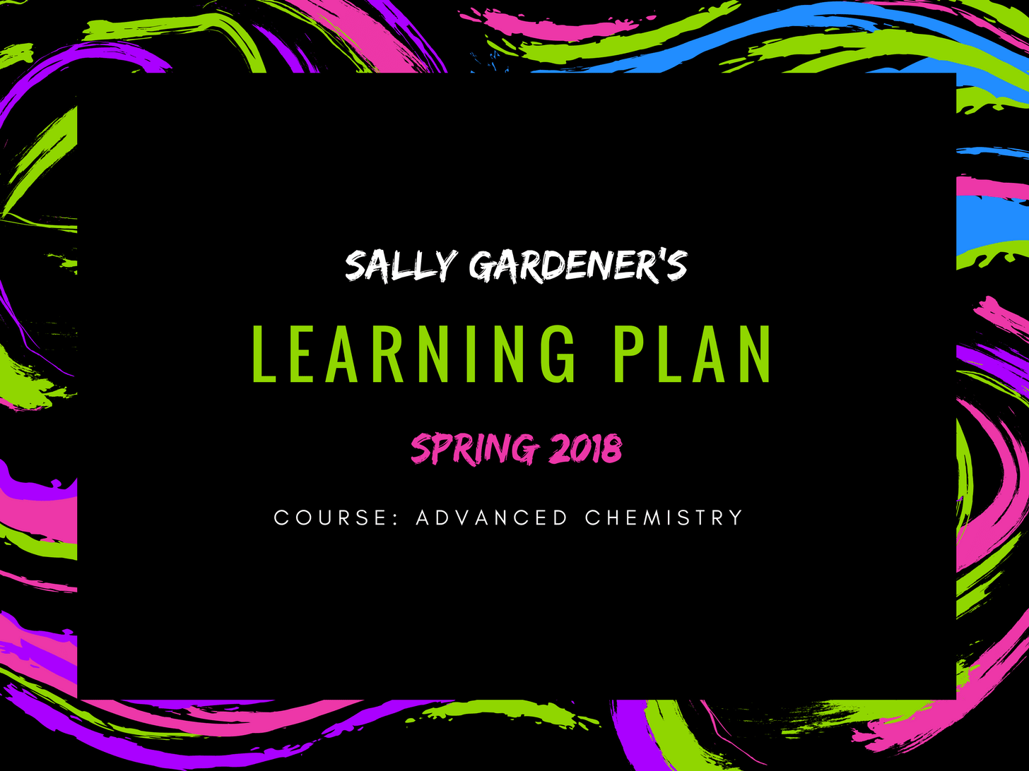 Sally's Learning Plan