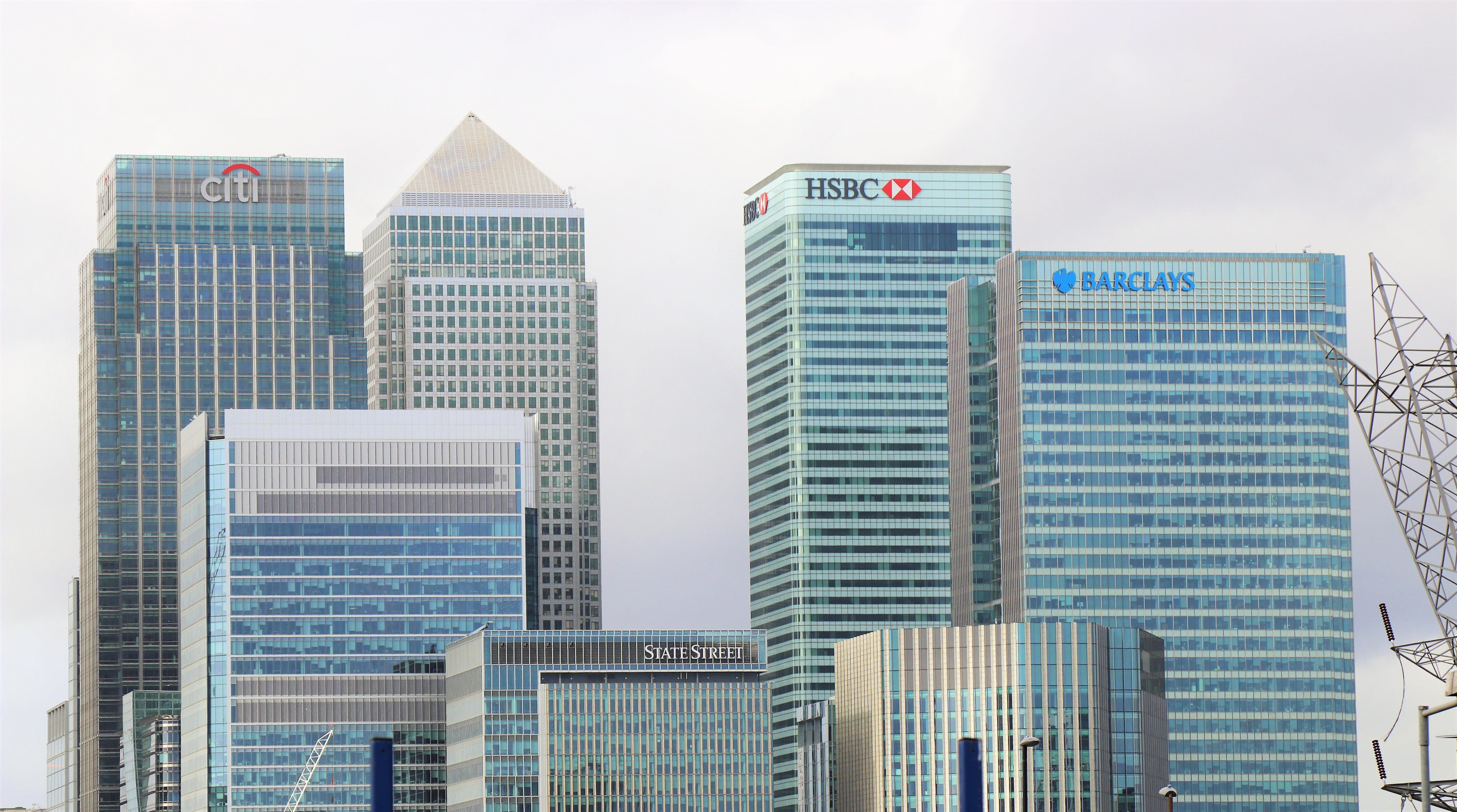 bank city skyline