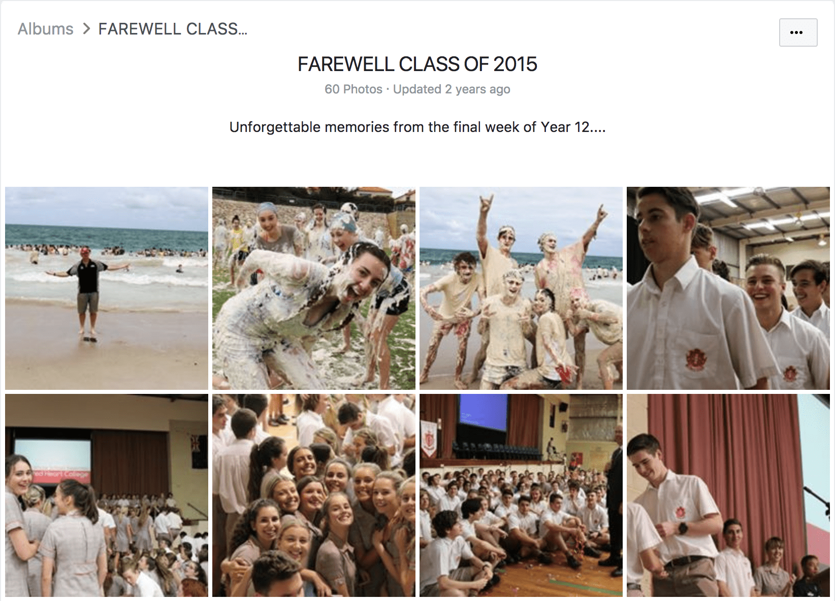Sacred Heart College in Perth, Australia, shared this album with memories from their graduates from 2015