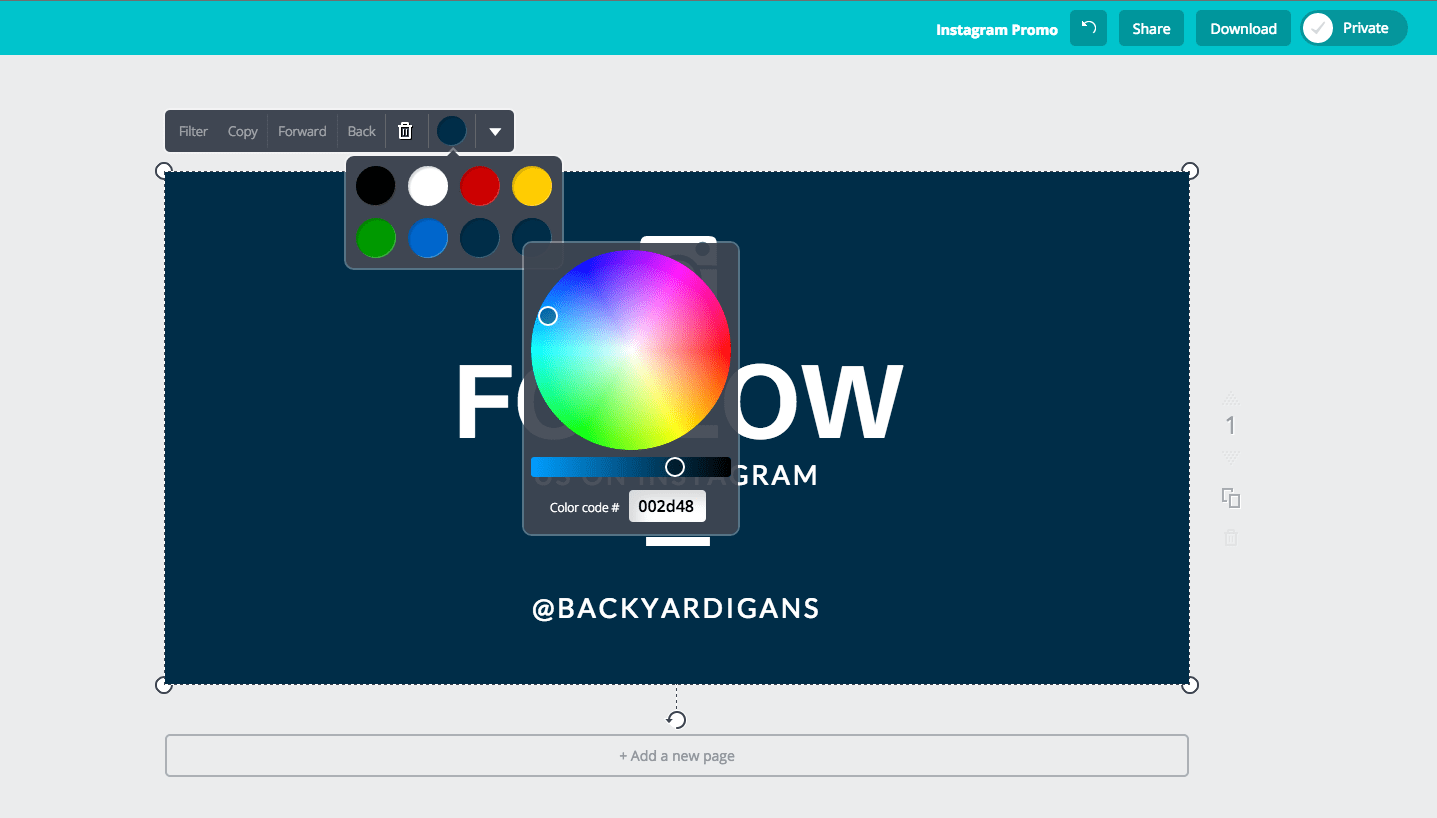 The Canva Color Wheel