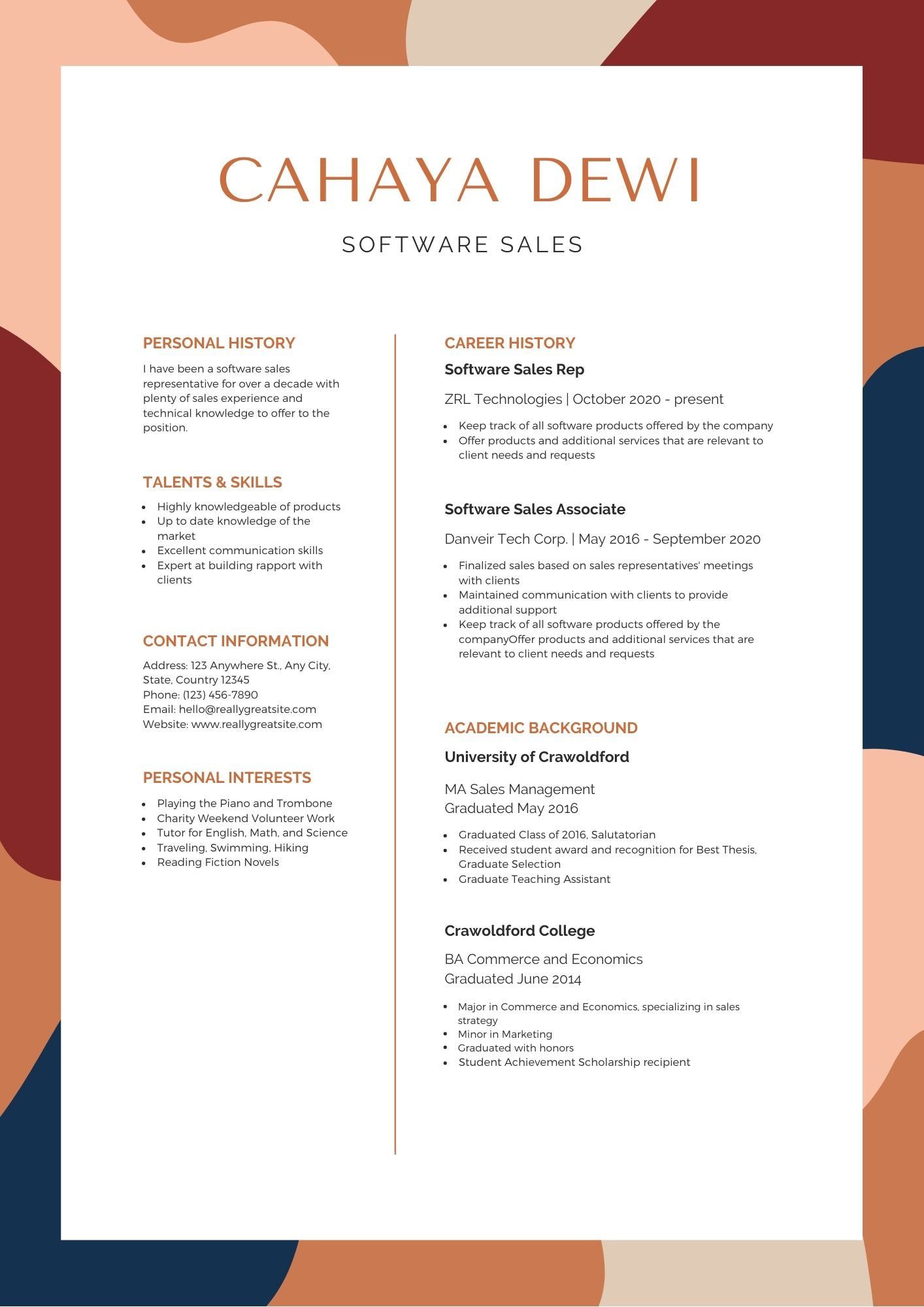 The Best Resume Format 2020 Canva