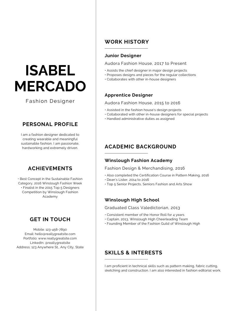 The Best Resume Format 2020 Canva Learn