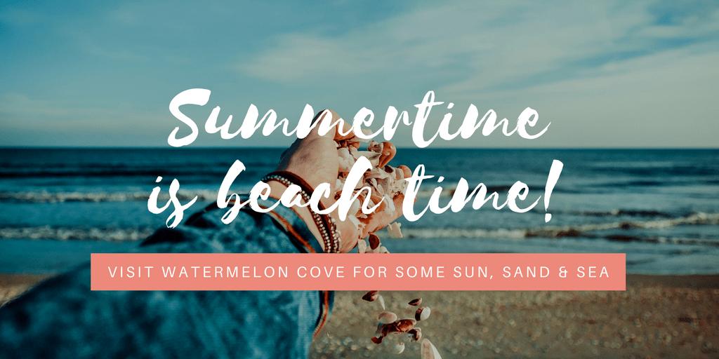 White Brush Script Beach Summer Promotional Twitter Post
