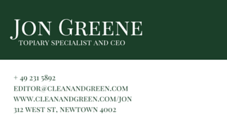Click to edit this business card design