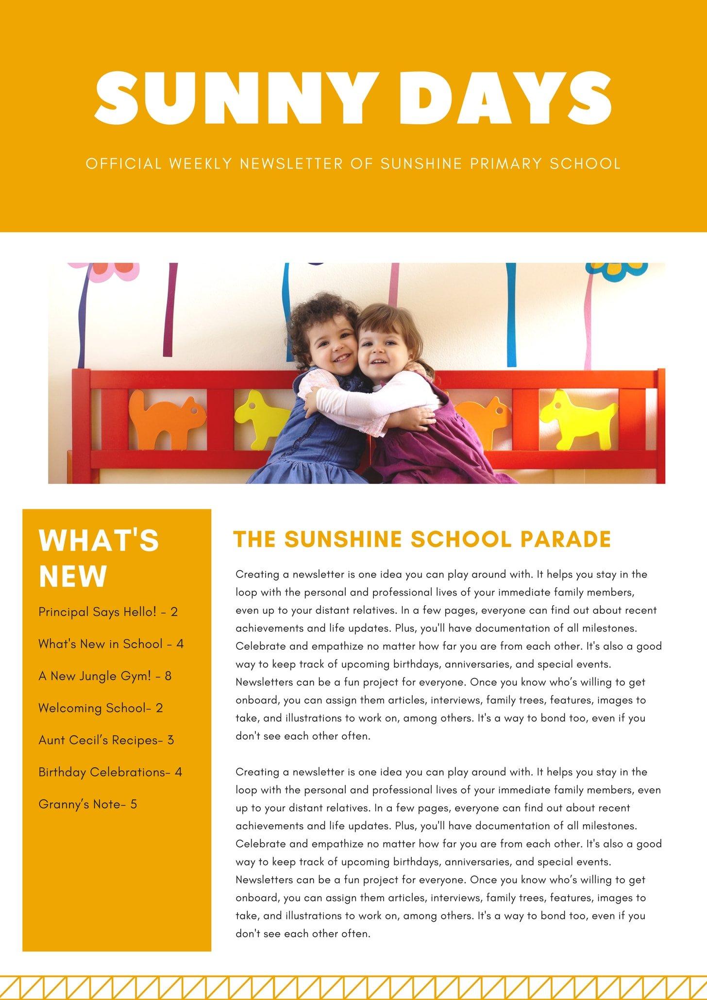 Orange Primary School Newsletter