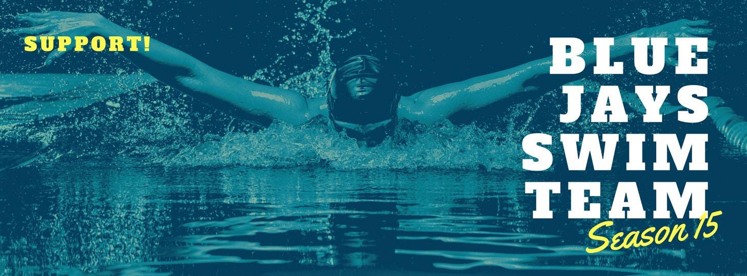 Swim Team Sports Facebook Cover Photo