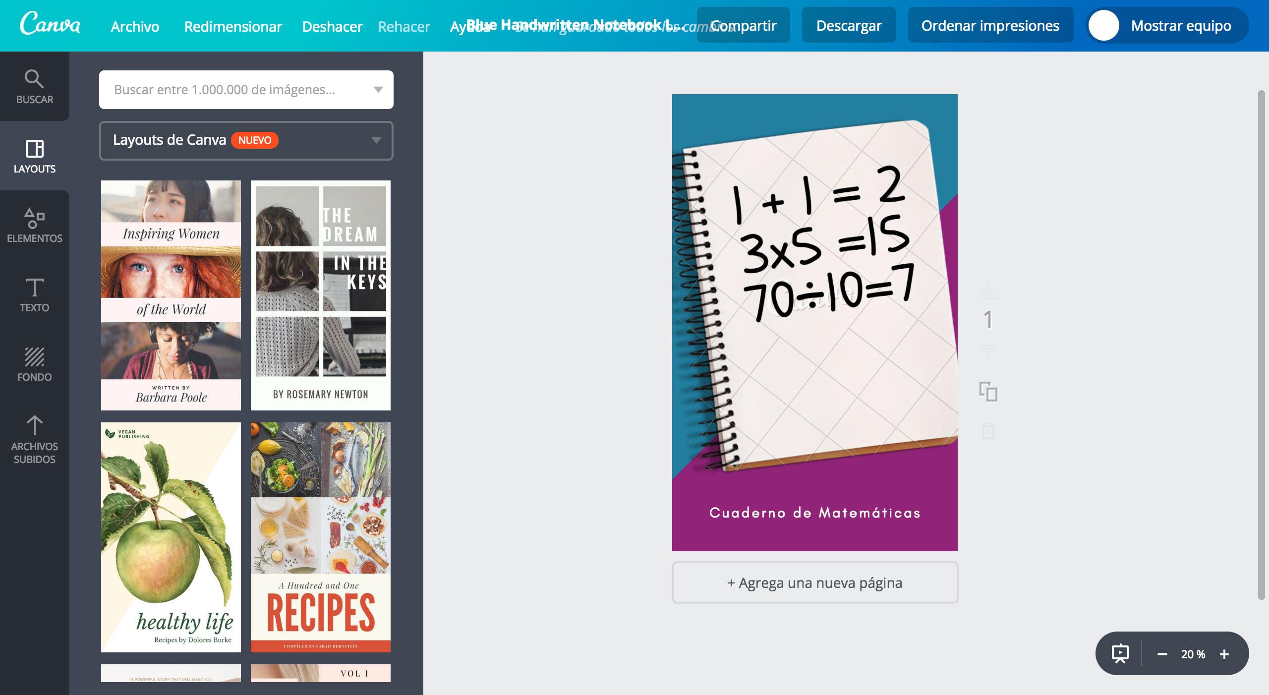 portadas para cuaderno de matemáticas