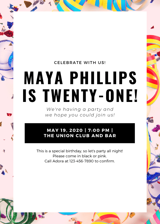 Print event flyers - Colorful Confetti Background Birthday Celebration Event Flyer