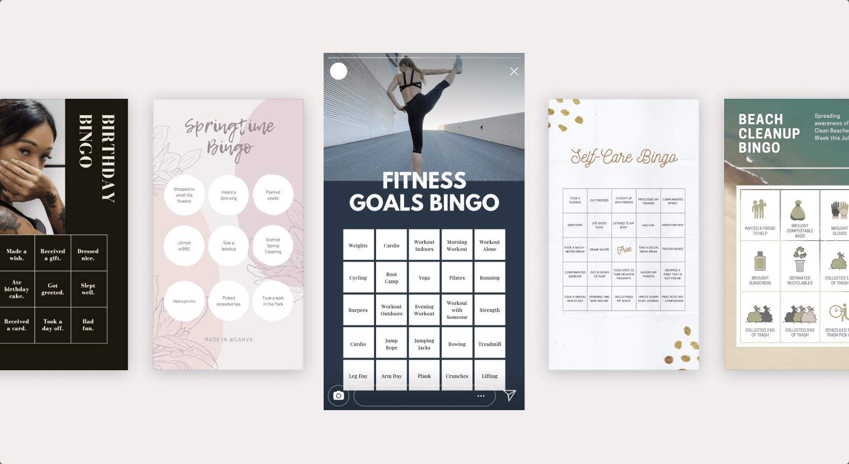 Desain kartu bingo Canva