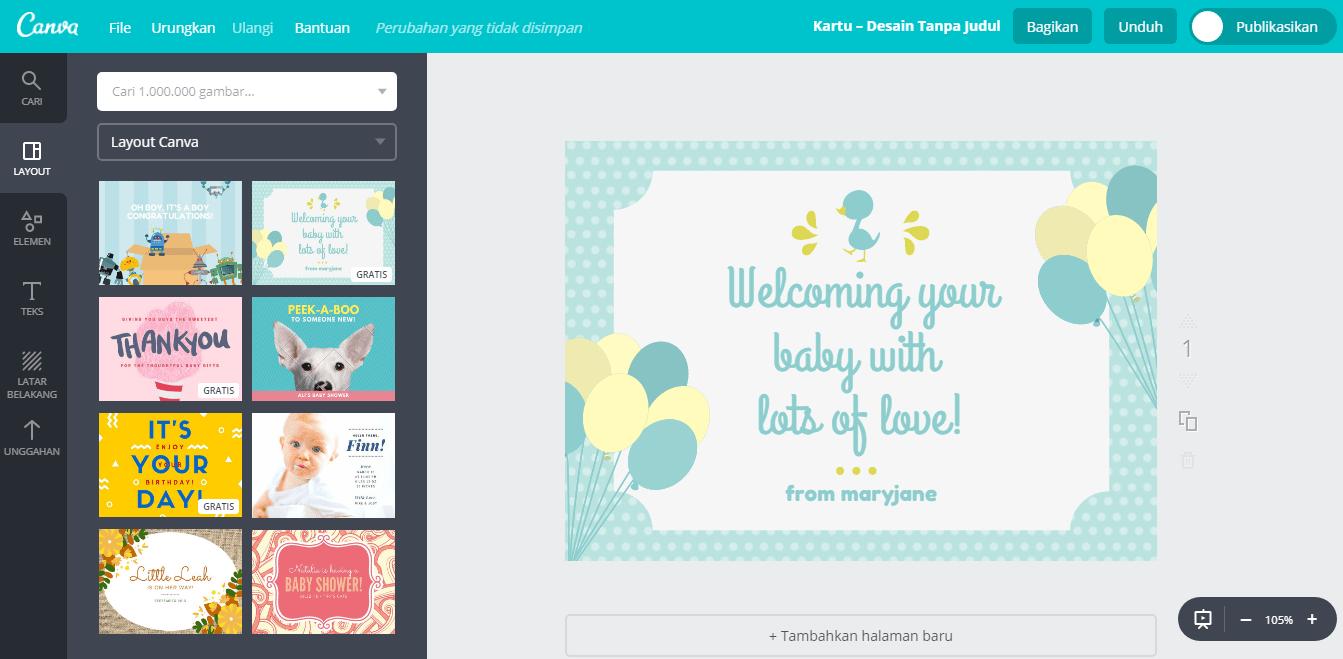 Buat Desain Kartu Ucapan Kelahiran Bayi Unik Dan Lucu