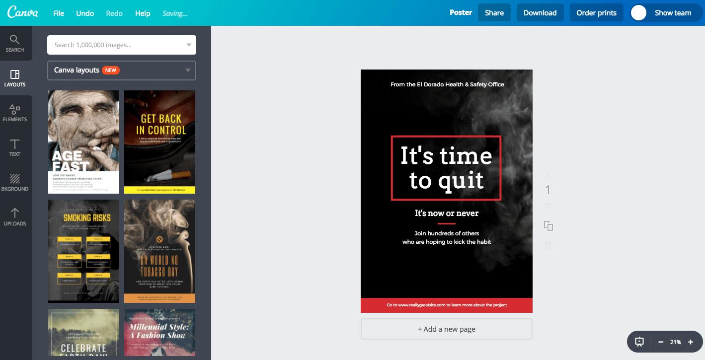 Poster Bahaya Rokok