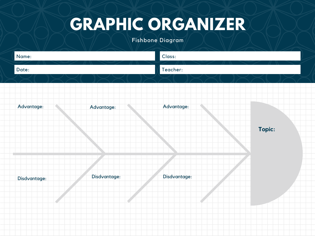 Membuat Grafik Diagram Fishbone Online Canva