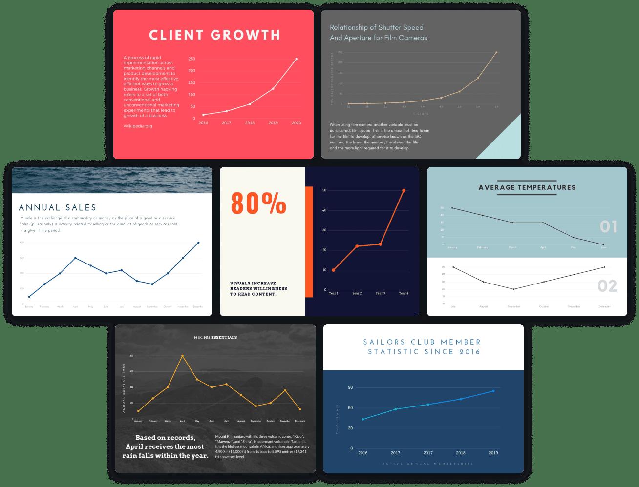 line-graph-templates