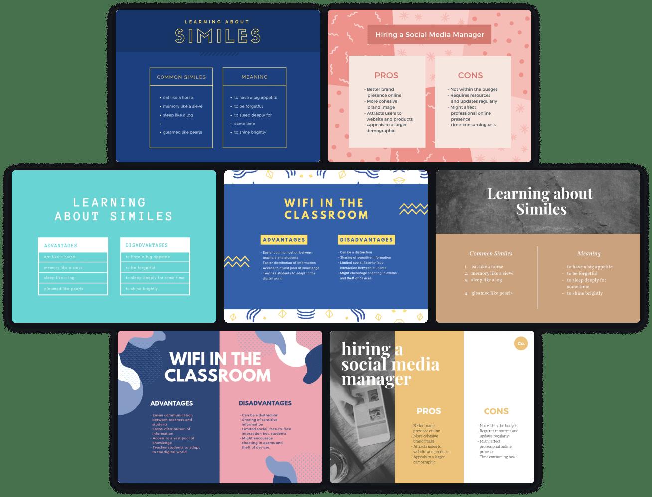 t-charts-templates