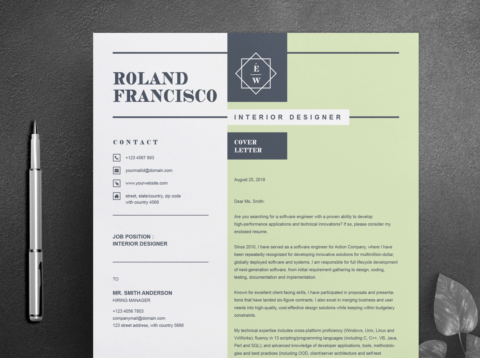 Interior Designer Cover Letter Resume Primary Photos Top Rated