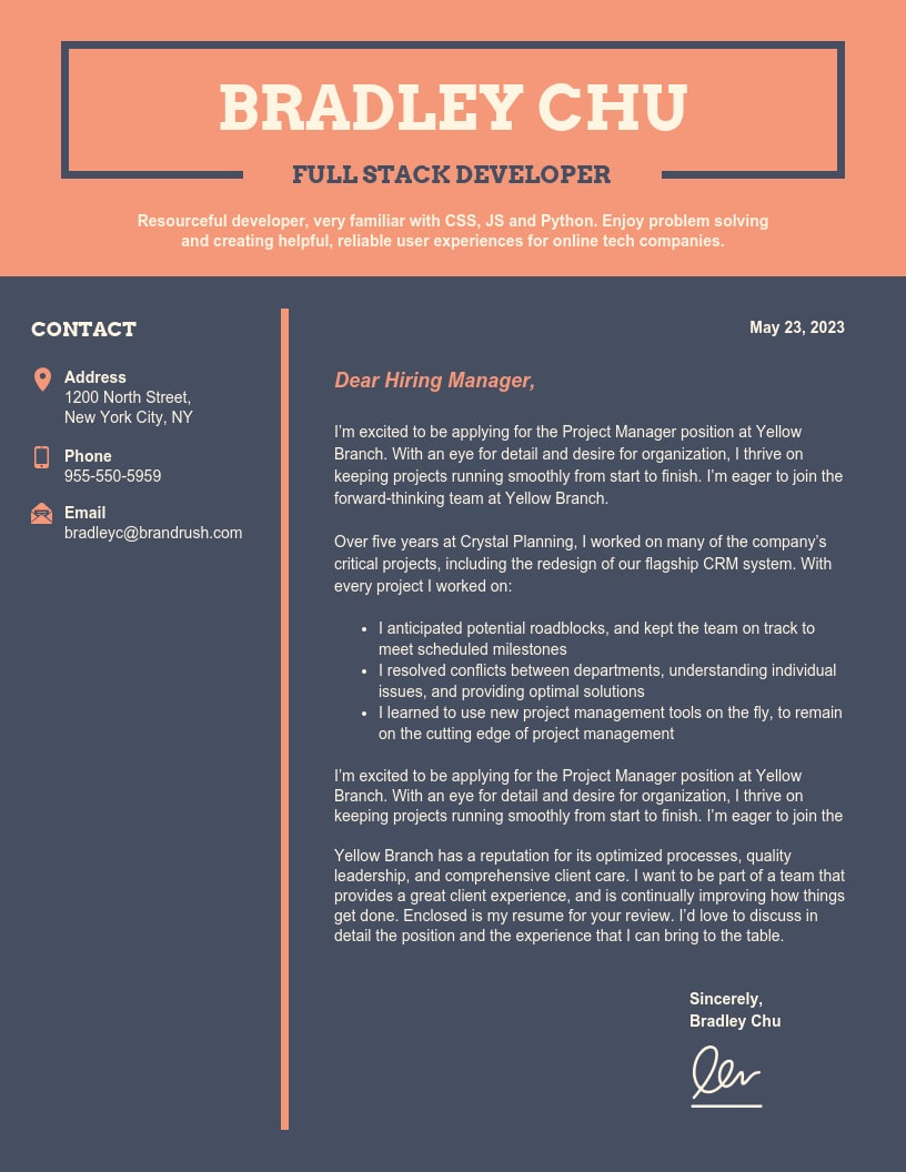 25 Cover Letter Examples Canva