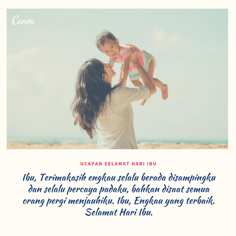 Bahan Untuk Poster Hari Ibu Ucapan Selamat Hari Ibu Penuh Cinta Dengan Gambar Canva
