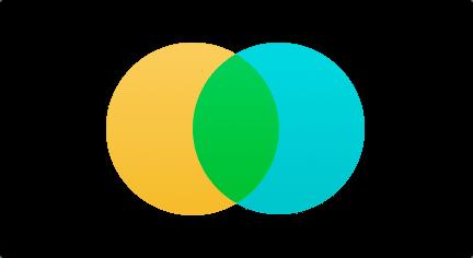 Unión de diagrama de Venn