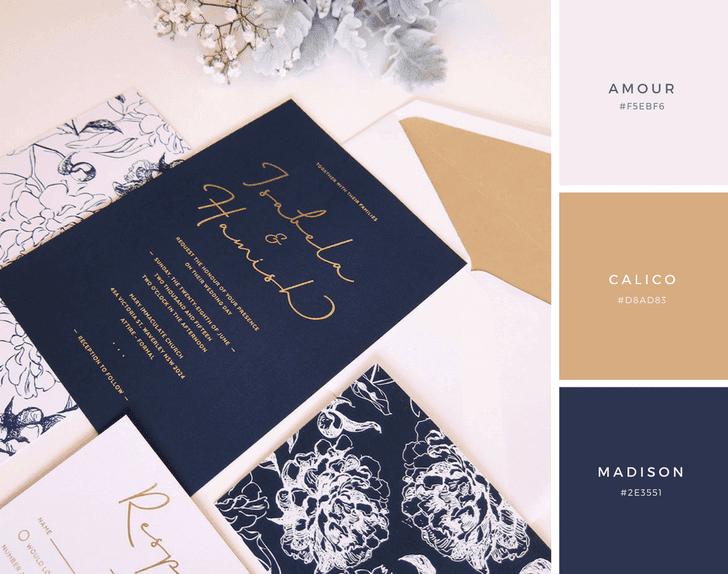 25 Kombinasi Warna Undangan Pernikahan yang Sempurna - Canva