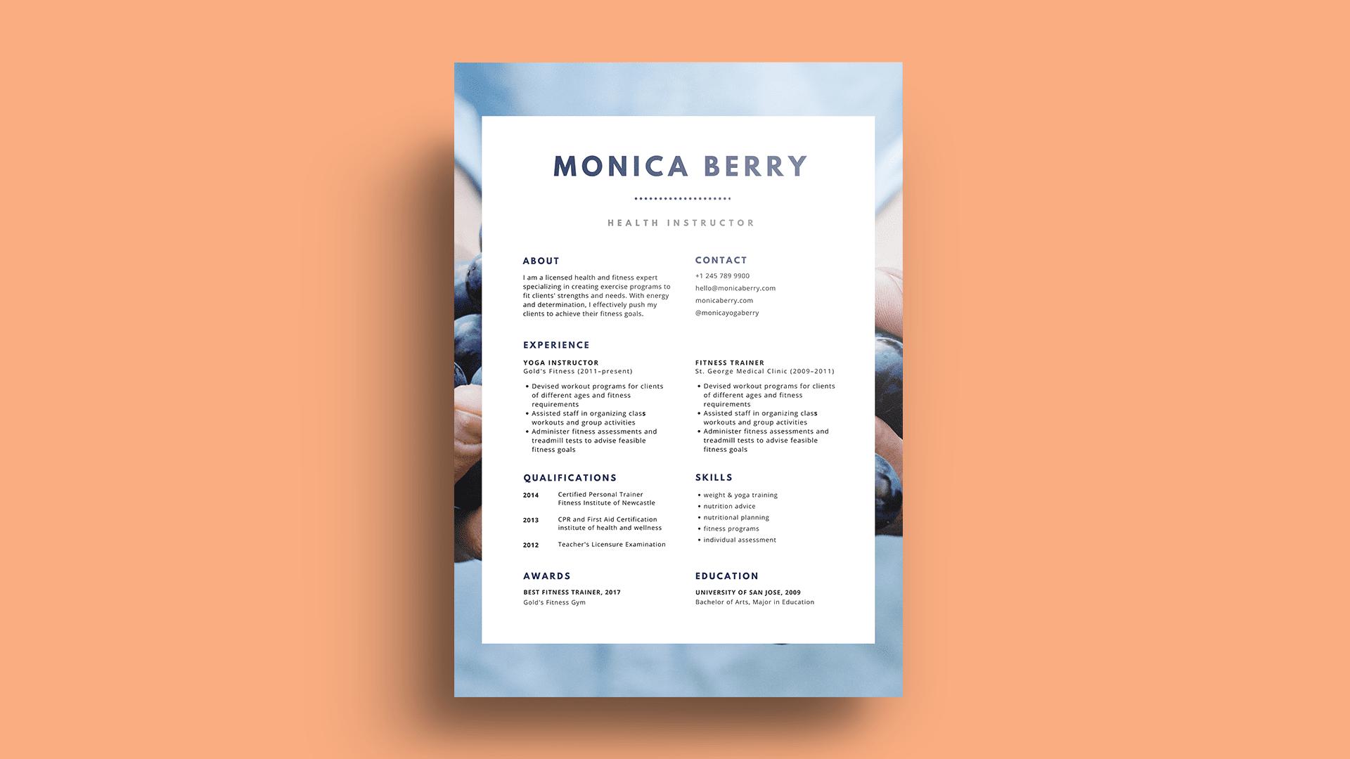 font-terbaik-resume