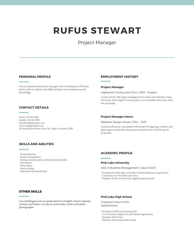 Format Resume Terbaik Untuk Dicoba Di 2020 Canva